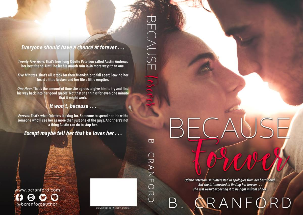 Cover Reveal!! Because Forever by B. Cranford