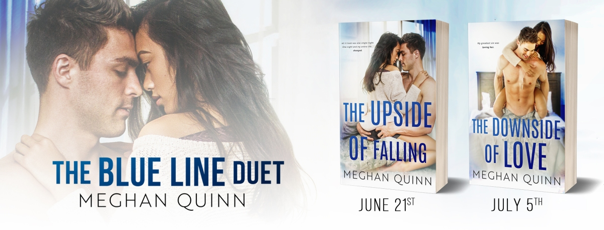 Double Cover Reveal!! The Upside of Falling & The Downside of Love by MeghanQuinn