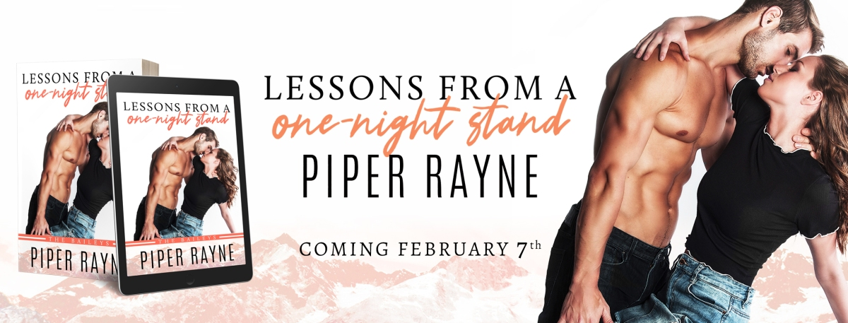 Cover Reveal! Lessons from a One-Night Stand By Piper Rayne