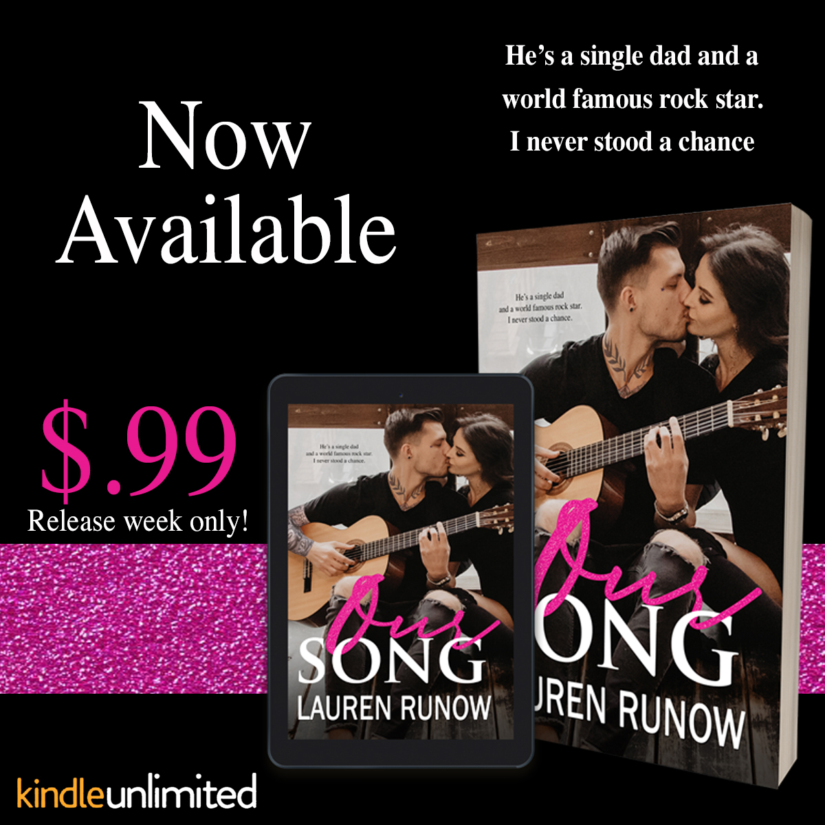 Happy Release Day & Review!! Our Song by Lauren Runow
